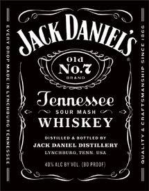 Jack Daniels - Bottle Label Tin Signs