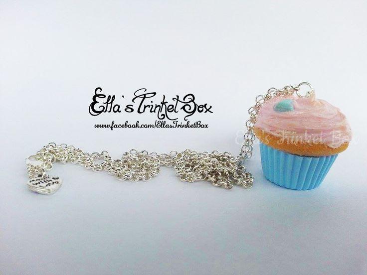Custom Cupcake Necklaces ♡  Find it at https://www.facebook.com/EllasTrinketBox