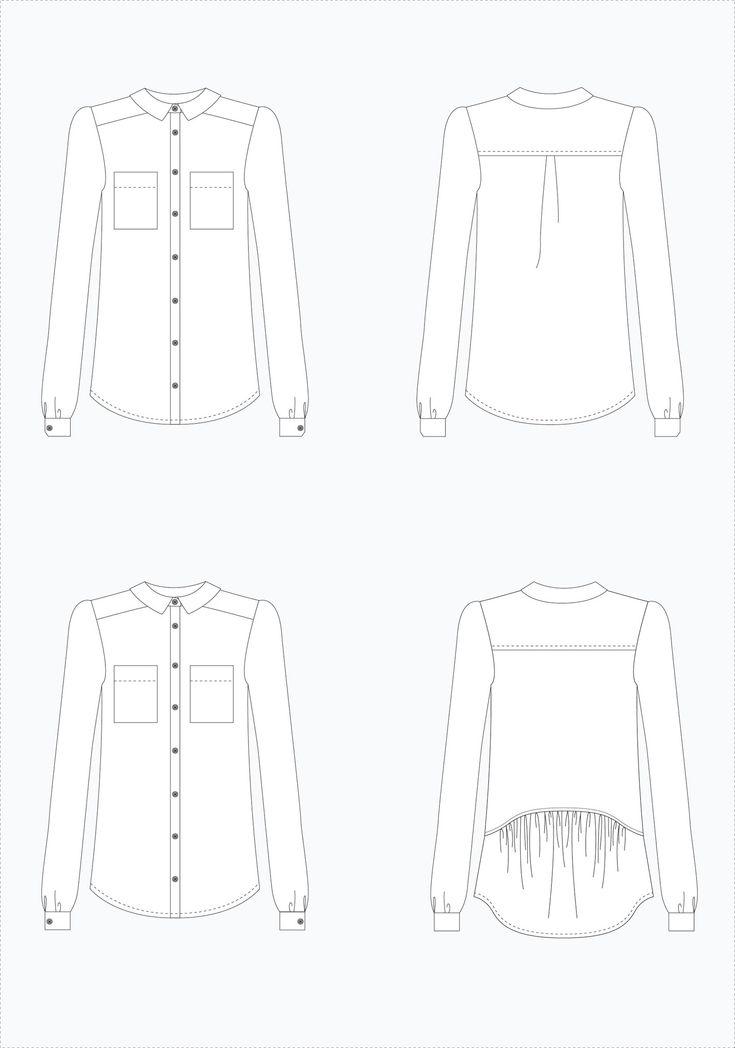 Archer Button Up Shirt printed pattern (on sale through December 1!) | Grainline Studio
