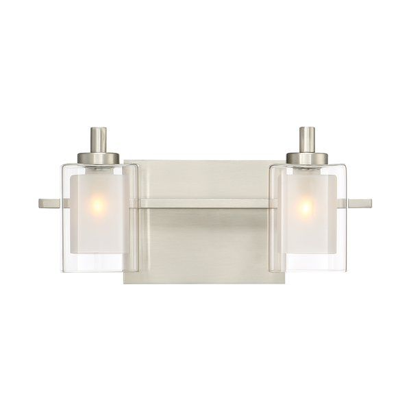 Instantly elevate your spa worthy powder room with this two bulb led vanity light