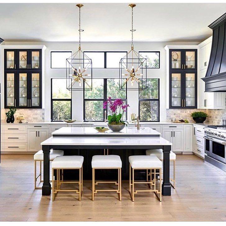Elegant Black White Kitchen Interior Design Kitchen Home