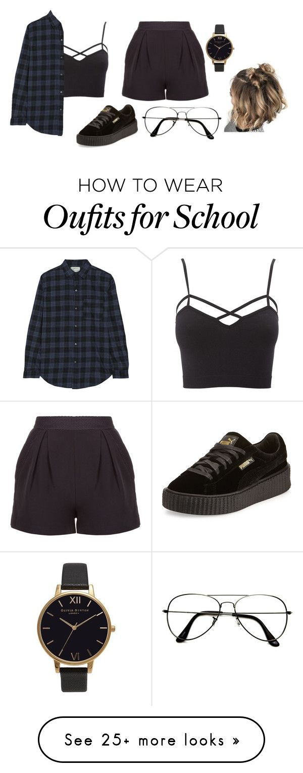 """What makes you think I'm gonna give it to you."" by trademarkedstyles on Polyvore featuring Charlotte Russe, Current/Elliott, ZeroUV, Puma, Olivia Burton and plus size clothing"