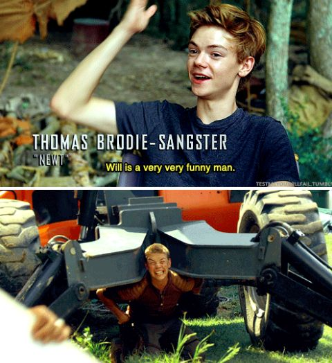 tmr cast - will poulter and thomas brodie sangster