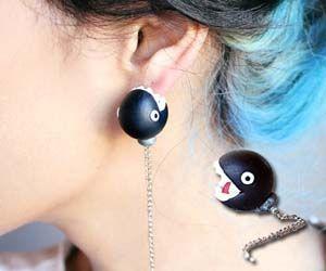 want: Chains Chomp, Stuff, Blue Hair, Mario Chains, Ears, Mario Brother, Mario Bros, Super Mario, Chomp Earrings