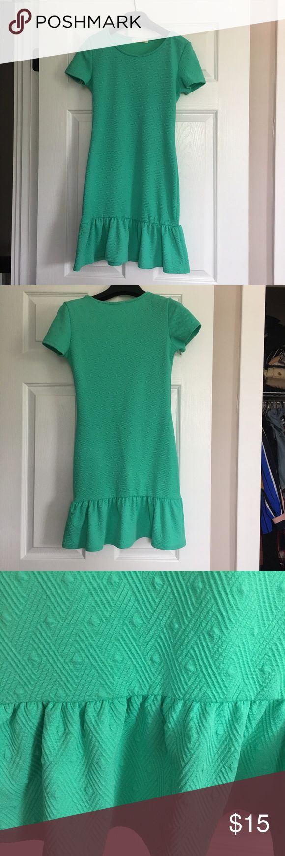 Mint green textured dress 👗 Body-con, mint green, textured, fit and flare dress. ASOS Petite Dresses Mini