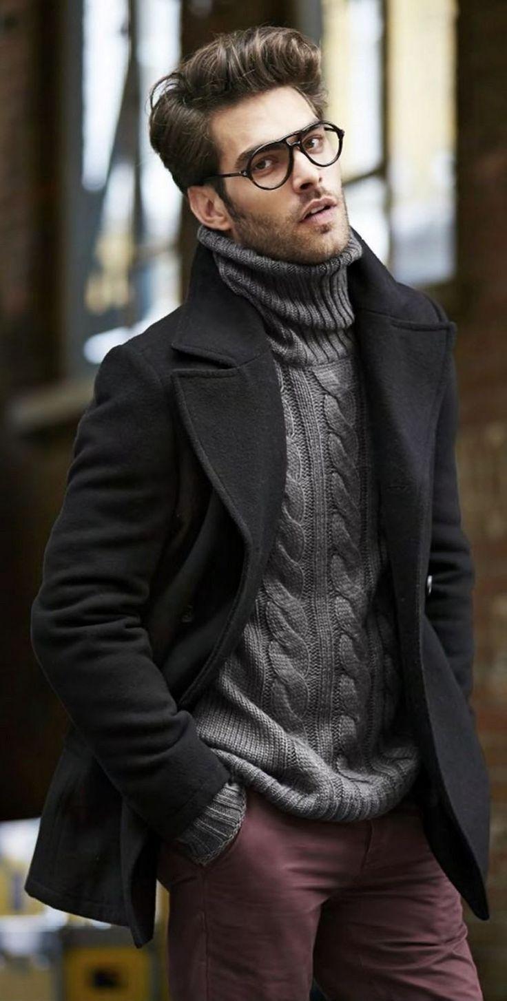 manteau homme long col montant