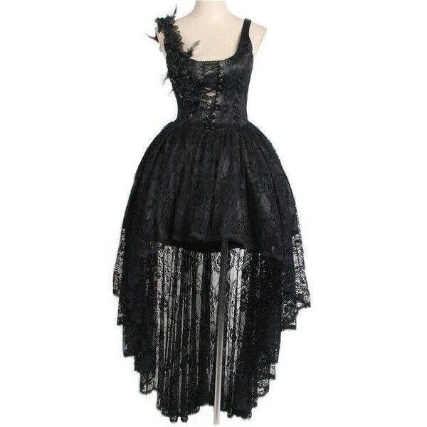 Gardenia Black Lace Gothic Corset Dress by Punk Rave ($145) ❤ liked on Polyvore featuring dresses, gothic corset, goth corset, lace corset dress, black cocktail dresses and gothic dress