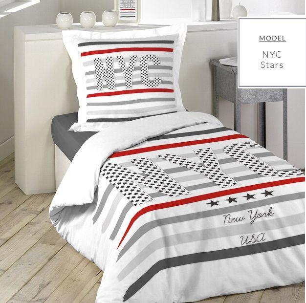 Biele posteľné obliečky NEW YORK