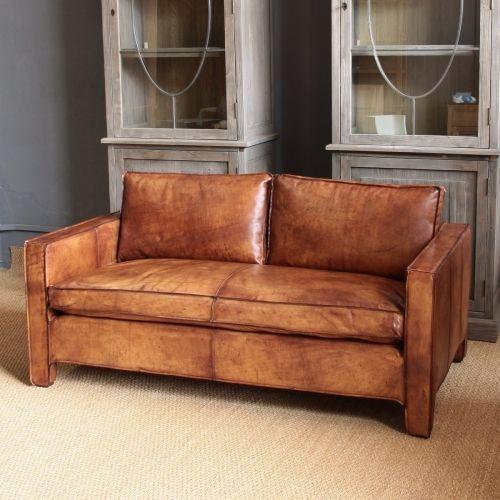 DENMARK Sofa de piel (215X93X60)