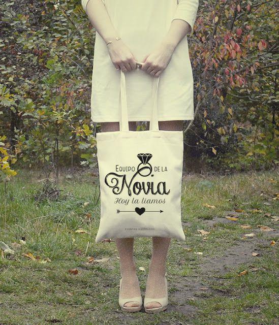 Bolsas algodón eventos ilustrados #equipodelanovia #despedidadesoltera