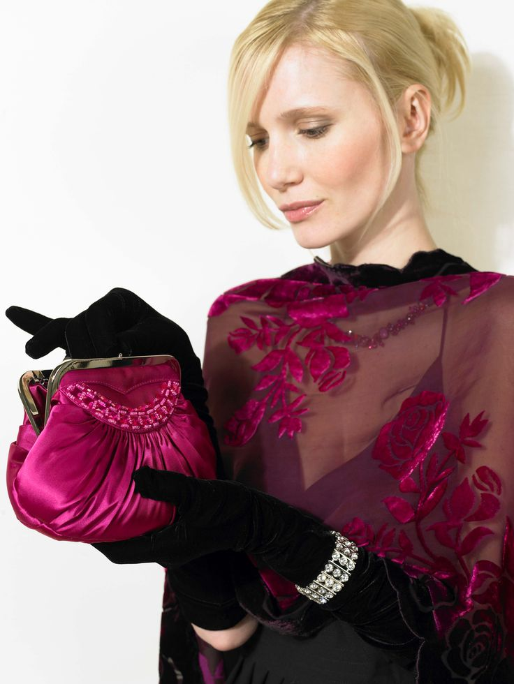 """Ladies' """"above elbow"""" soft leather glove. Dents' gloves that 'secret fit' and comfort which is the Dents' hallmark."""