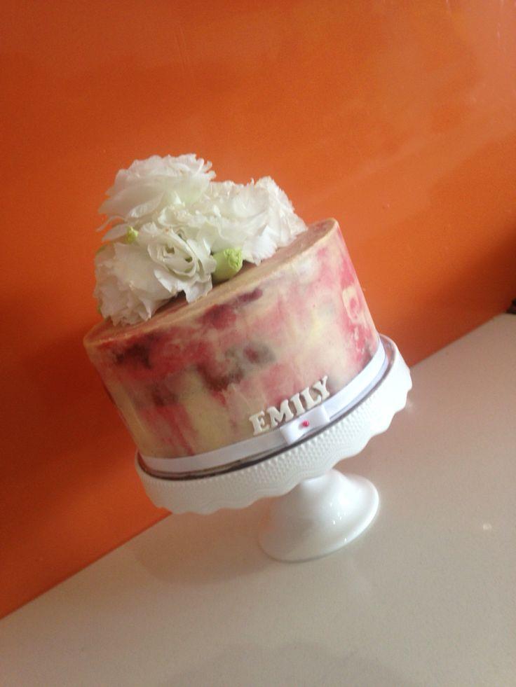 Pretty semi naked cake!