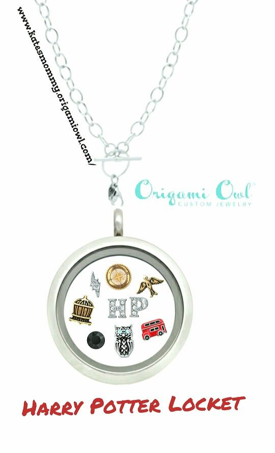 Ask me how you can win this Harry Potter Origami Owl necklace for FREE! Www.katesmommy.origamiowl.com/