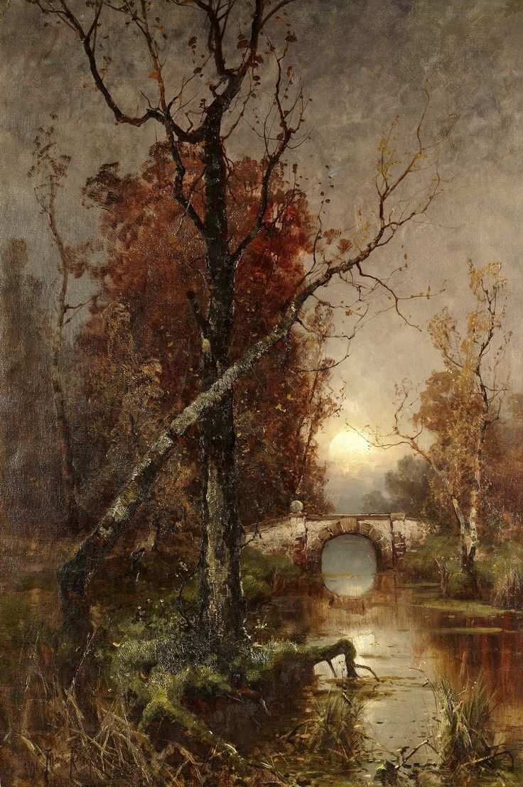 laclefdescoeurs:  Autumn in the Park, 1896, Yuli Yulievich Klever