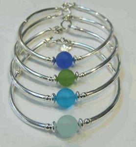 Cape Cod sea glass bracelets. Cool.