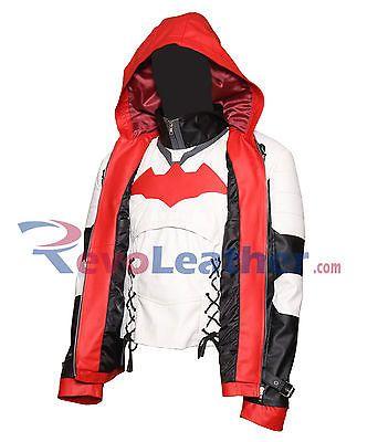Batman Arkham Knight Jason Todd Hooded Red Celebrity Leather Jacket Costume