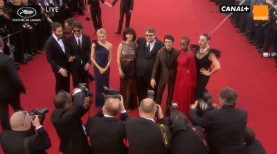 Le jury du Festival de Cannes 2015 (capture d'écran)