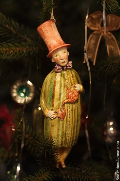 Купить Время чая. Ёлочная игрушка - Новый Год, ёлочная игрушка, украшение на ёлку