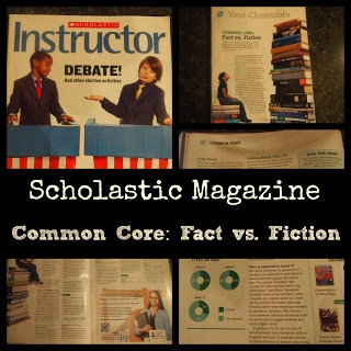 How do you include non-fiction text in your reading instruction?    Check out this article in Scholastic:    Scholastic: Common Core - Fact vs. Fiction (including non-fiction text in your reading instruction) Great article with tons of resources!