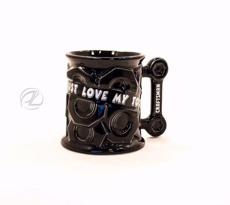 Craftsman Mug Coffee Tools Mechanic Cup Black Large American Home Workshop 1996 $16.99 FREE SHIPPING #Craftsmantools #mechanic #mug