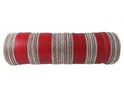 Indian Fashion Red Chuda Bracelet Wedding Bangles