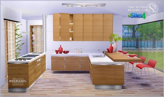 Sims 4 updates simcredible designs sims 4 bechamel for Sims 2 kitchen ideas