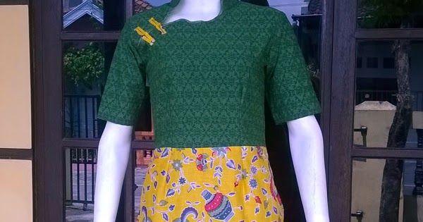Dress Batik Cheongsam mix Emboss | jual batik murah, Batik modern, batik sarimbit, baju batik