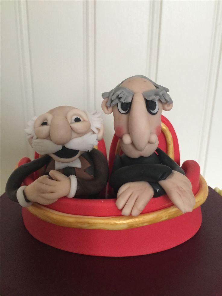 Statler and Waldorf fondant figures