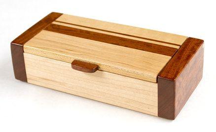 Bubinga and Maple Box