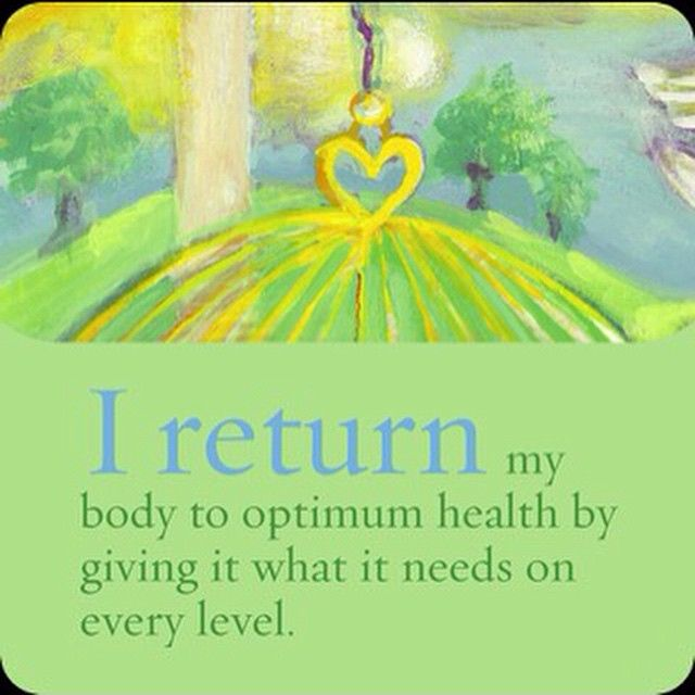"""Today's Power Thought: I return my body to optimum #health by giving it what it needs on every level. (From Louise Hay's I Can Do It: #Affirmations for…"""