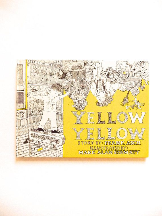 Vintage Book Yellow Yellow by Frank Asch and Mark Alan Stamaty