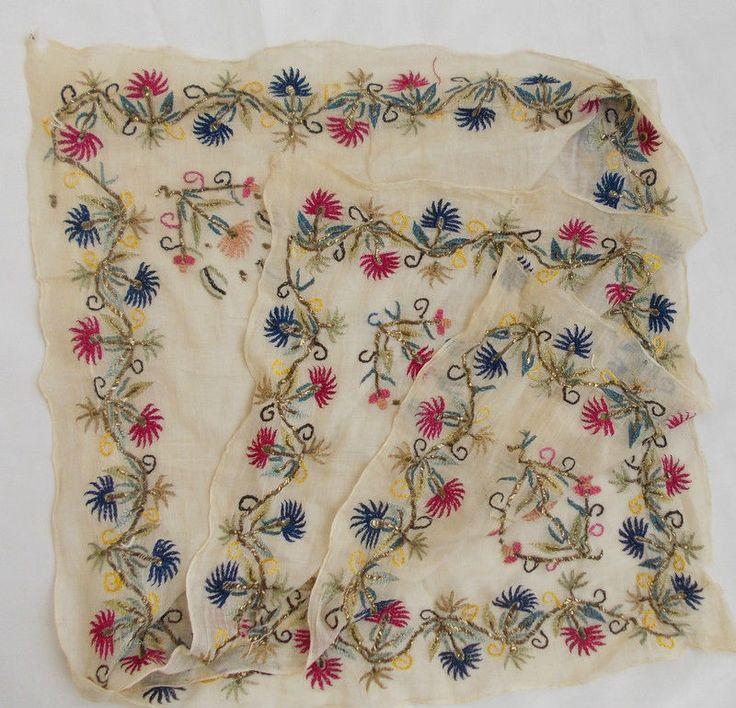 Turkish gold metallic and silk thread embroidery nakış