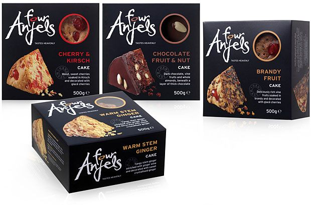four anjels cakes columbine cakes hills design packaging design