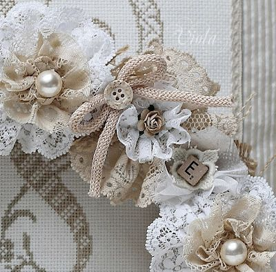 "Vow Renewal: Stunning lace wreath - I may ""need"" this for my bedroom wall!"
