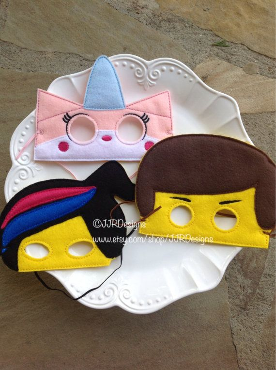 These are dress up/play masks! I have several styles available, These vary in size..about 5-6 wide and 5-6 tall, Emmet is a little larger. Available.