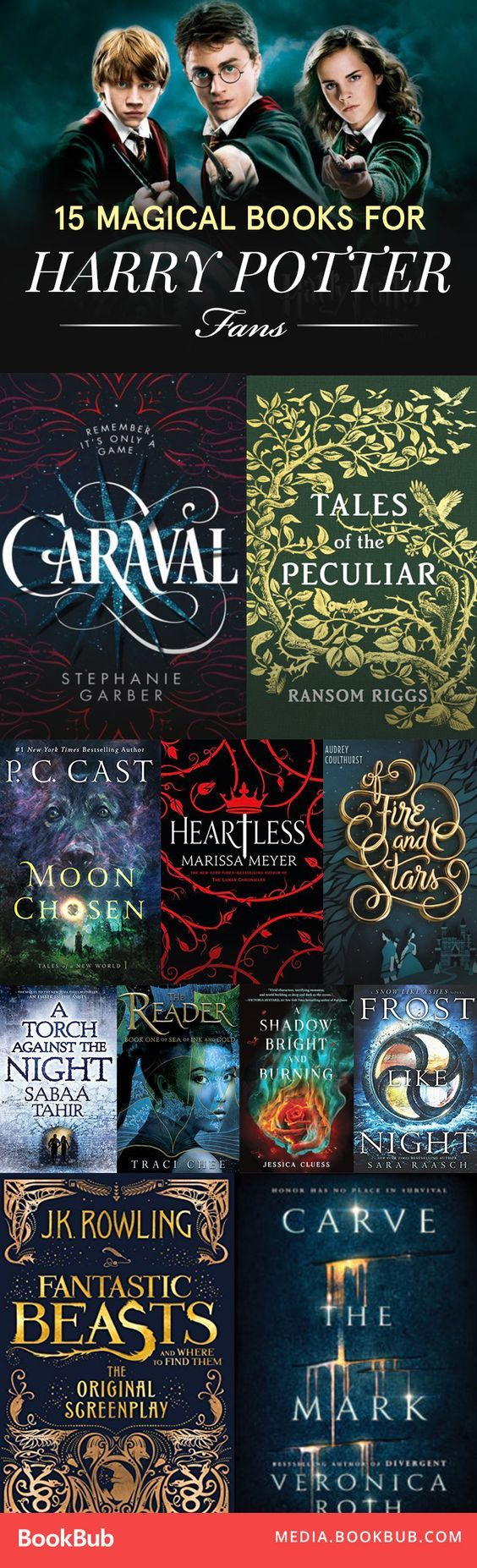 Loved the Harry Potter books? Here are 15 magical books to read next.