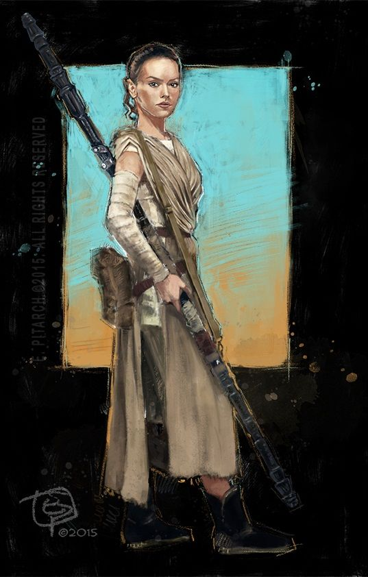 Star Wars, The force awekens, Rey. E. Pitarch ©2015. All rights reserved.