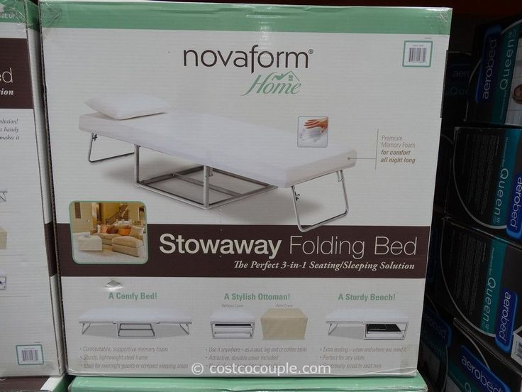 Maximize And Save Space With This Beautiful Folding Bed Styles Novaform Stowaway Folding Bed Costco Mattress Folding Foam Mattress Folding Beds Foam Mattress
