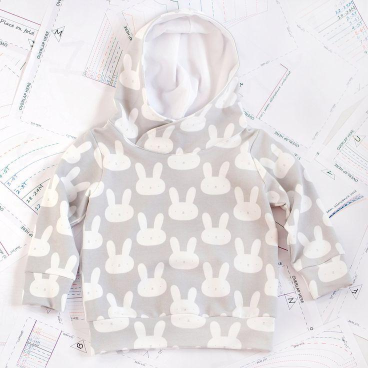 Hoodie Sewing Pattern PDF, sweatshirt sewing pattern PDF, easy sewing pattern, baby sewing patterns pdf, kids sewing pattern.