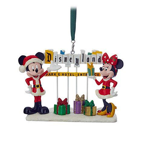 Disneyland Marquee Christmas Ornament featuring Santa Mickey and Minnie  Mouse | Disneyland Christmas | Pinterest | Disneyland, Disney ornaments and  ... - Disneyland Marquee Christmas Ornament Featuring Santa Mickey And