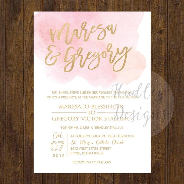 Watercolor Wedding Invitations Water Color Fl Formal