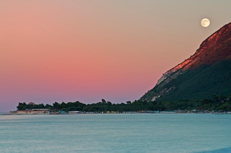 Sunset in Portonovo, Ancona