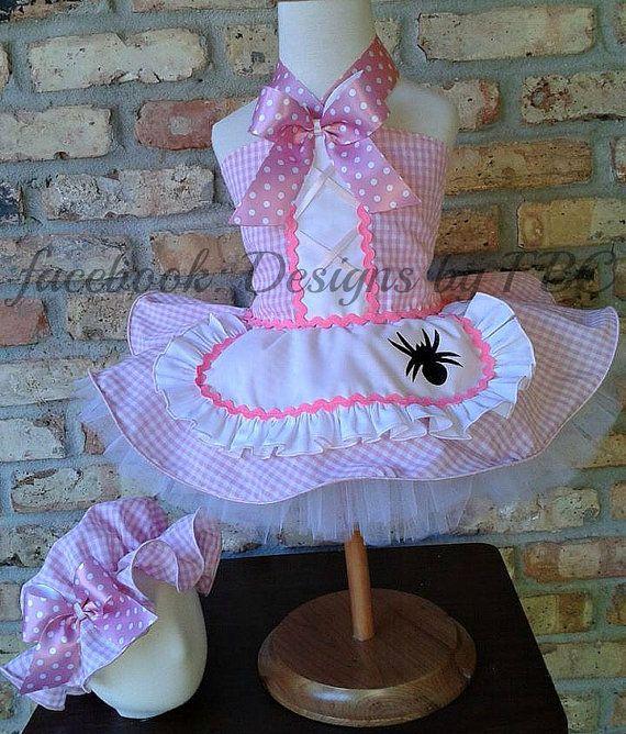 Little Miss Muffet  Costume Pageant Wear OOC custom size 12m 18m 2 3 4 5 6 7 8 on Etsy, $125.00
