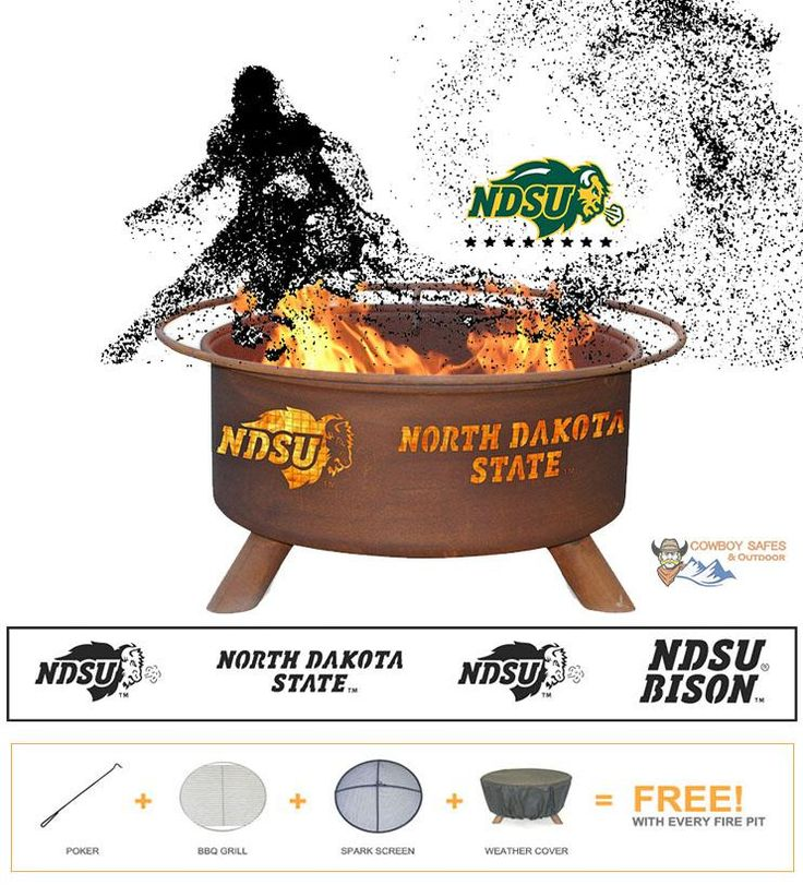 Show Your Pride and Entertain your Friends with the North Dakota State University Fire Pit! – College Fire Pit