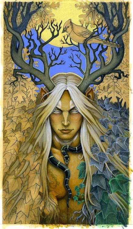 "Druids Trees:  The #Stag Lord. ★ The word ""druid"" means ""oak-knower.""  Druids venerated trees and worshiped in Sacred Groves called ""Nemetons."""