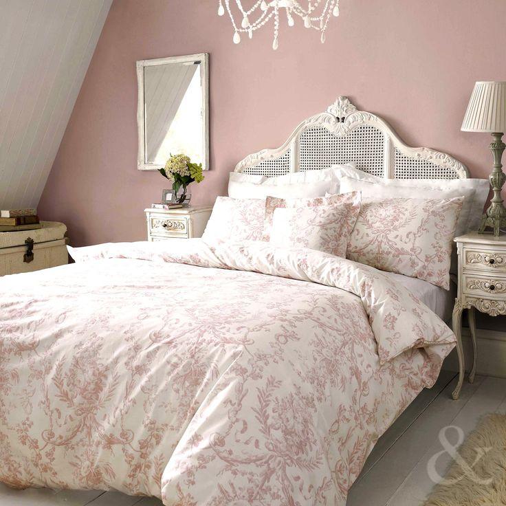 janet reger tilly luxury vintage duvet cover 100 cotton bedding bed set pink