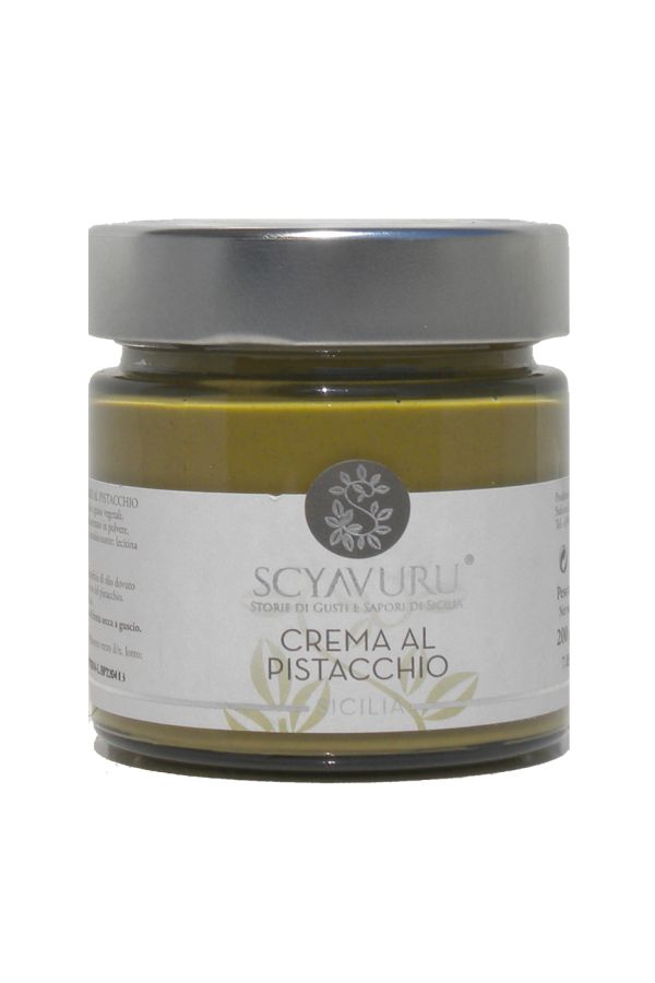 Pistachio cream from Sicily!  https://store.sicilianflavors.com/sweets/spreadable-cremes/pistachio-cream-200g.html