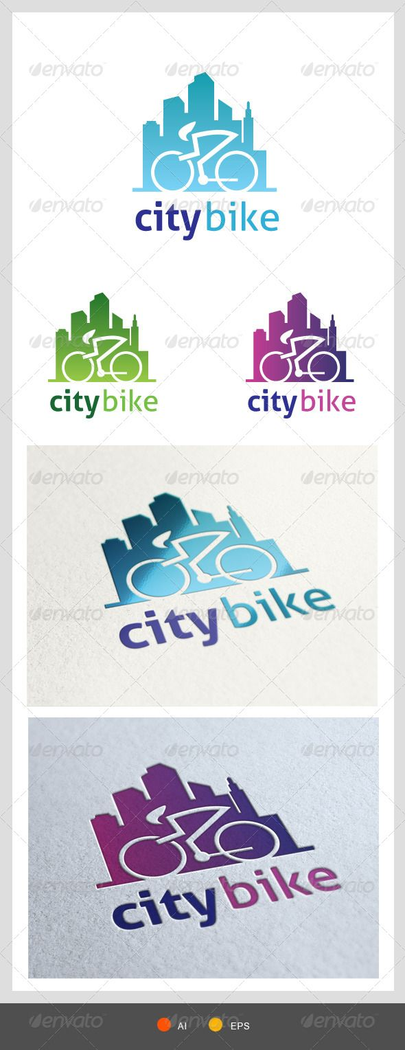 City Bike Logo Template - Objects Logo Templates