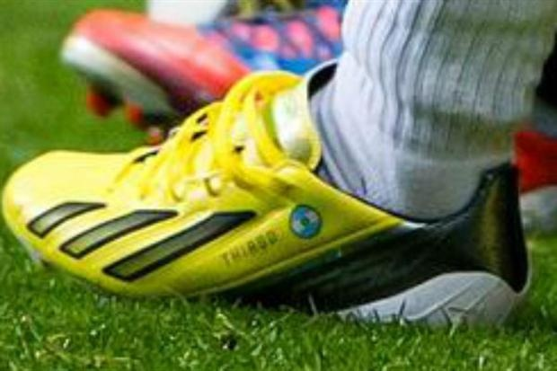 Messi's new shoes with Thiago and Argentinian flag on them