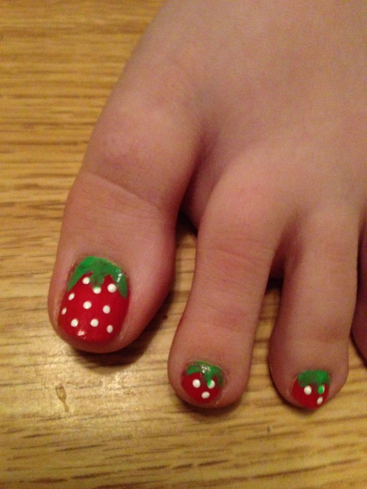 113 best nail art images on pinterest anchor nail designs make strawberry toes nail art prinsesfo Images